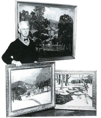 The artist with heralded paintings