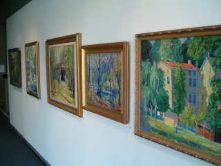The entire gallery of the Trumbull Art Gallery was dedicated for the John L. Lloyd paintings exhibit.